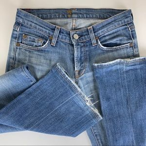 7 for All Mankind Bootcut Jeans 25 Distressed